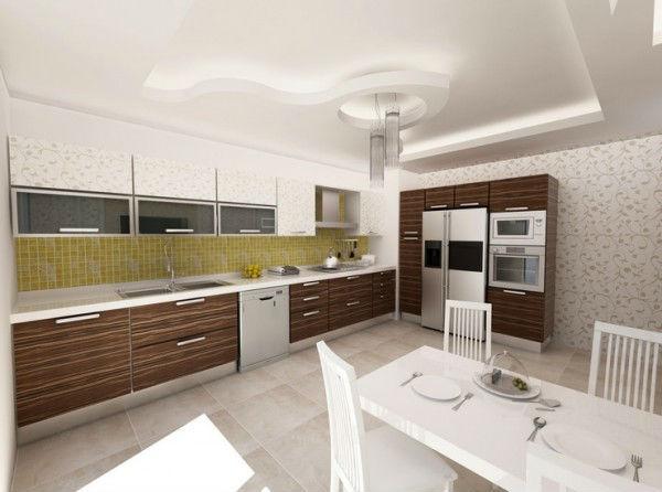 mutfak asma tavan dekorasyonu